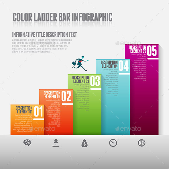 GraphicRiver Color Ladder Bar Infographic 10998357