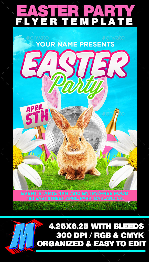 GraphicRiver Easter Party Flyer Template 10998592