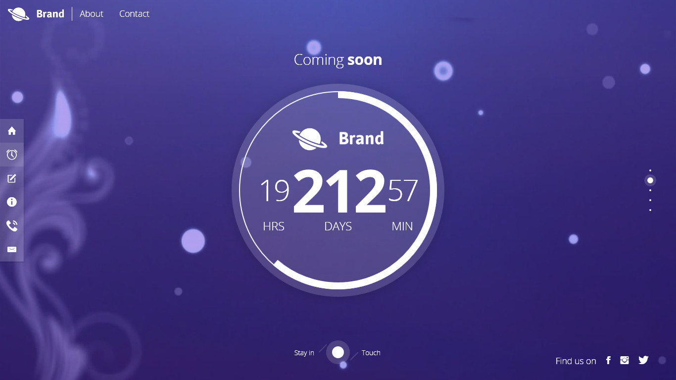 Creative Coming Soon Bootstrap Themes