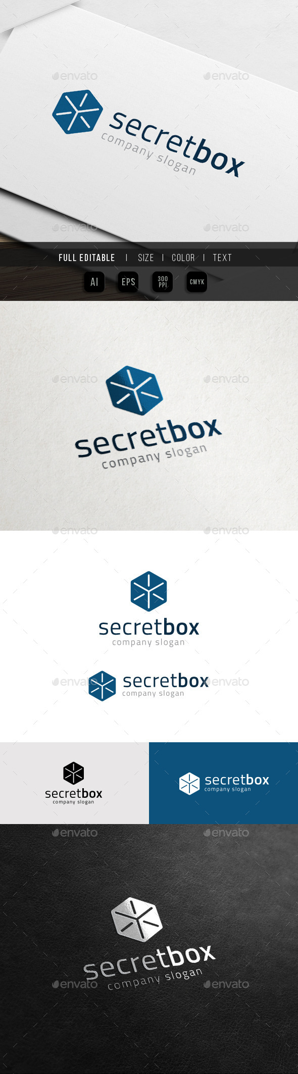 GraphicRiver Secret Data Box Cube Security System Logo 10998760
