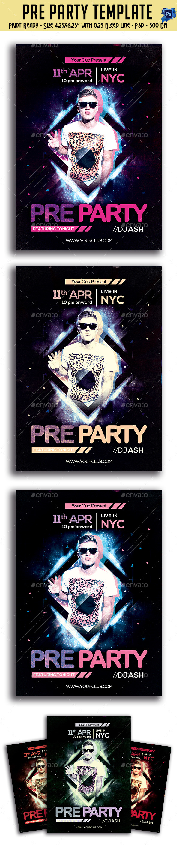GraphicRiver Pre Party Flyer 10998786