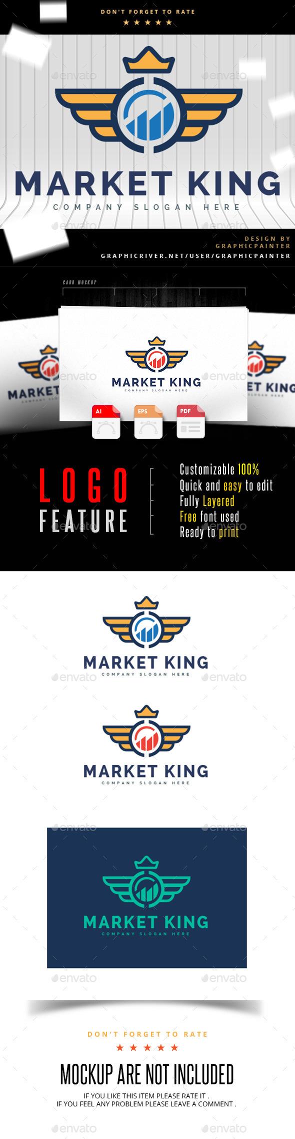 GraphicRiver Market King Logo 10998794