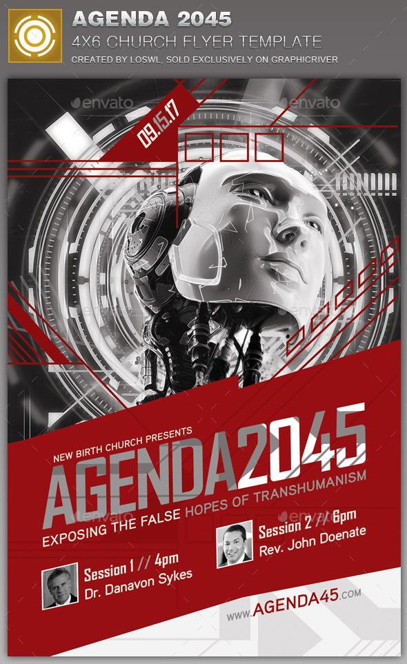 GraphicRiver Agenda 2045 Church Flyer Template 10999320