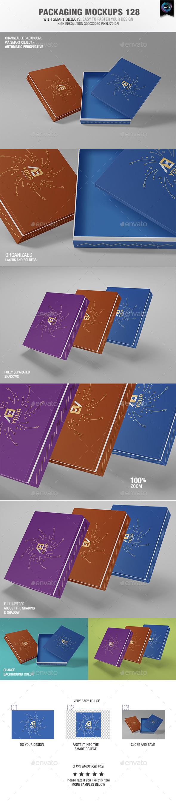 GraphicRiver Packaging Mock-ups 128 11000006