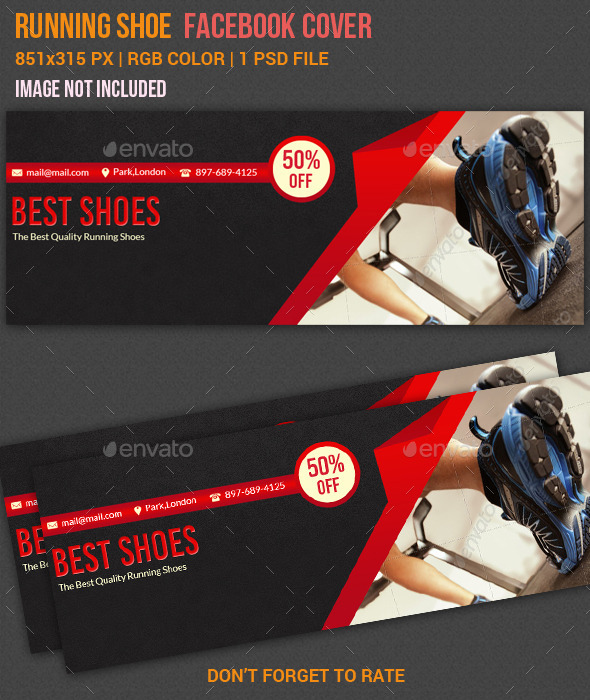 GraphicRiver Running Shoes Facebook Cover 11000007