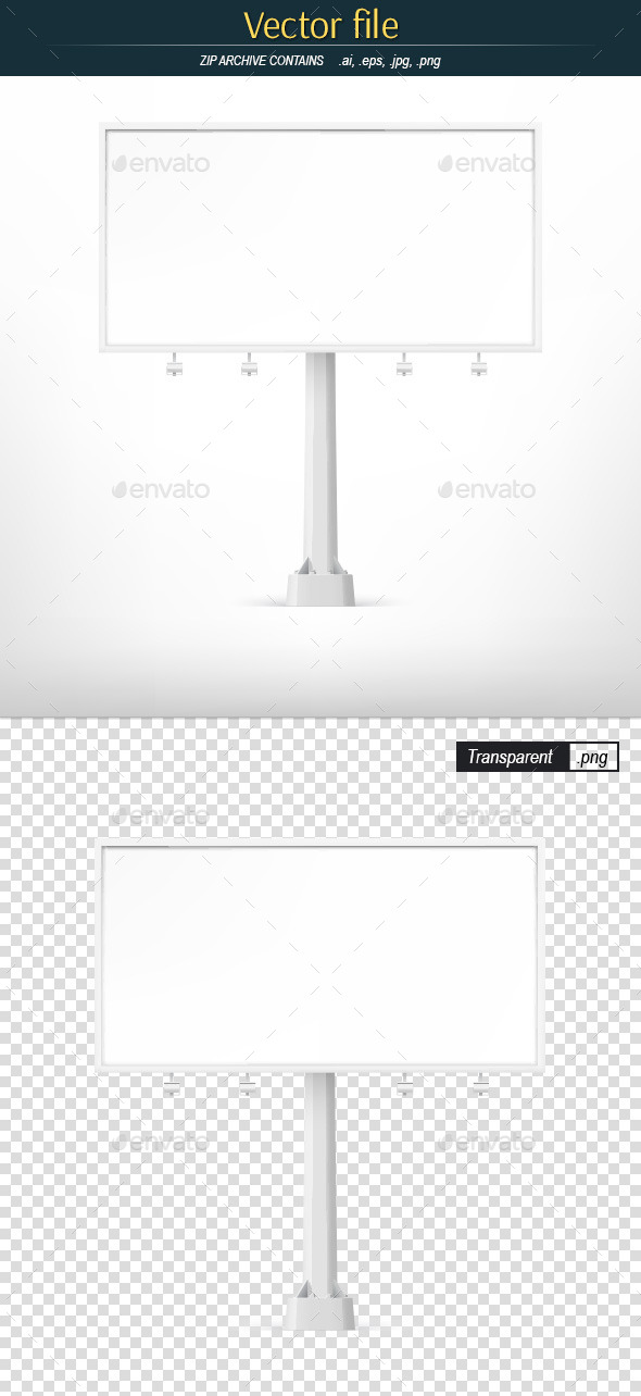 GraphicRiver Billboard White Large Horizontal 11000008