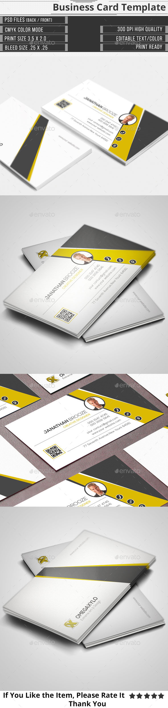 GraphicRiver Corporate Business Card 11000012