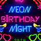Neon Birthday Party Flyer - GraphicRiver Item for Sale