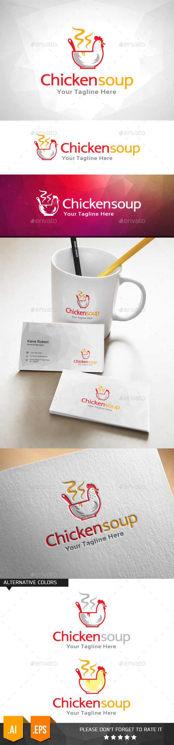GraphicRiver Chicken Soup Food Logo Template 11000064