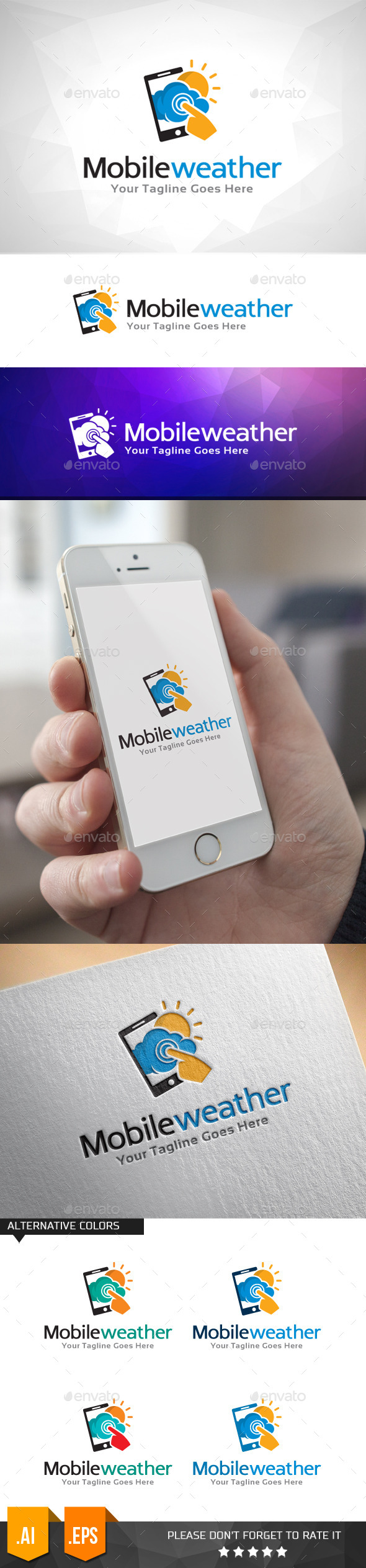 GraphicRiver Mobile Weather Logo Template 11000103