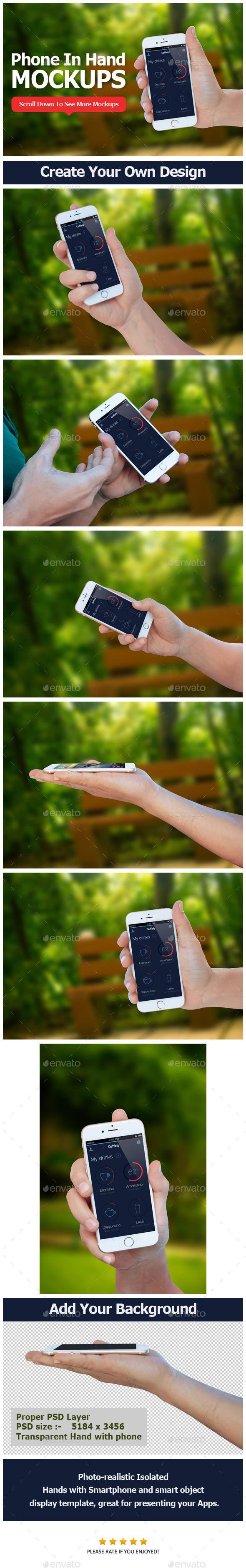 GraphicRiver Smartphone in Hand Mockup 10802940