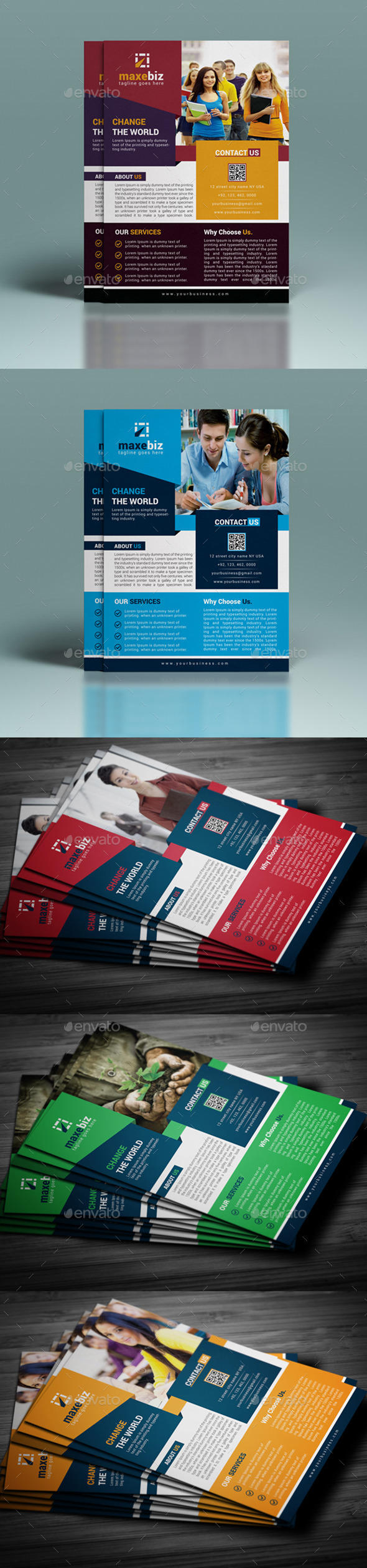 GraphicRiver Corporate Flyer Template 11000231