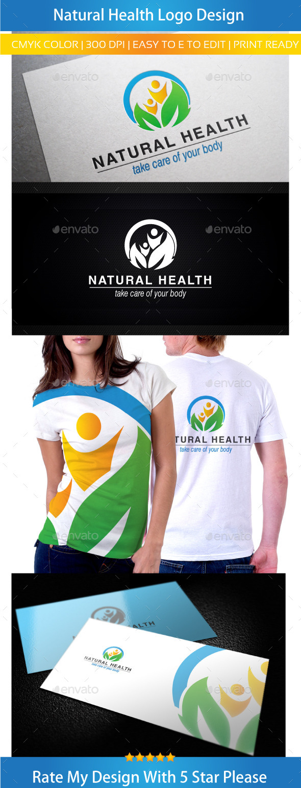 GraphicRiver Natural Health Logo 11000281