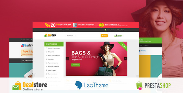 ThemeForest Deal Store Responsive Prestashop Theme 11000285