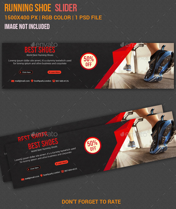 GraphicRiver Running Shoes Slider 11000585