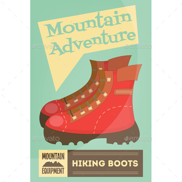 GraphicRiver Hiking Boots 11000588