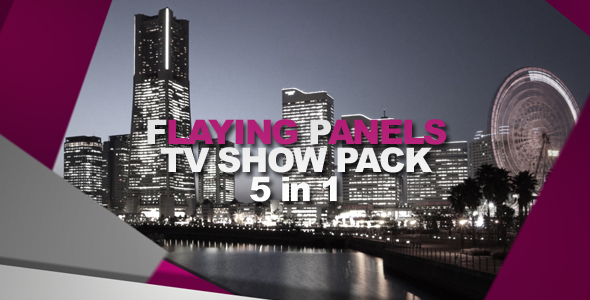 After Effects Project - VideoHive Flying Panels TV Show Pack 5 in 1 136400
