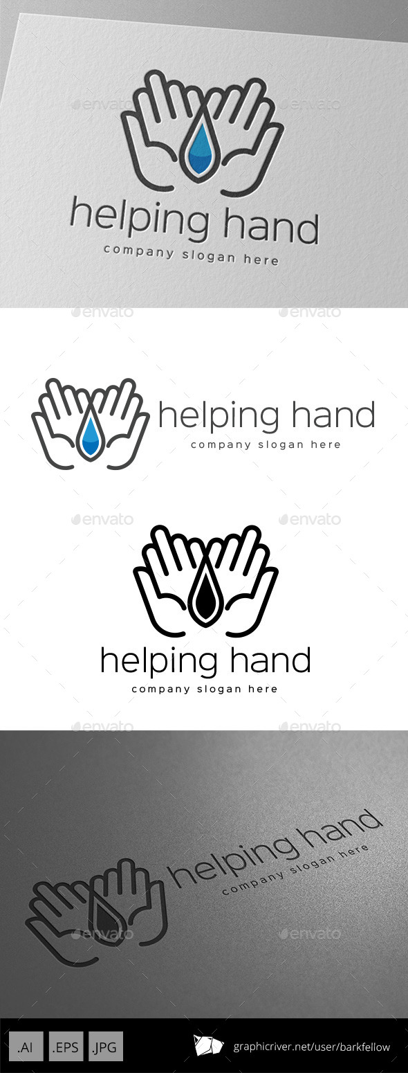 GraphicRiver Helping Hand Logo Design 11000916