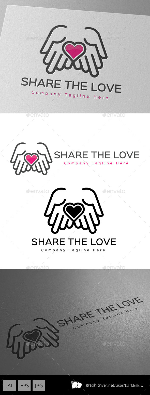 GraphicRiver Share The Love Logo Design 11001088