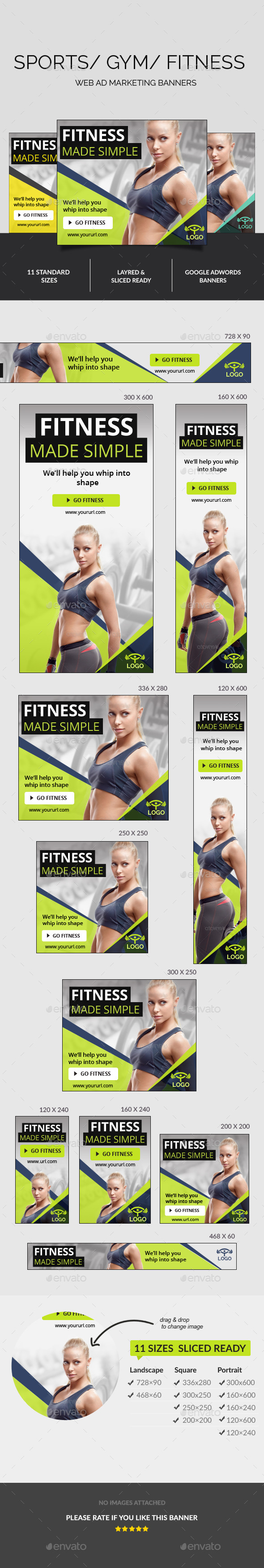 GraphicRiver Fitness Ad Banners 11001130