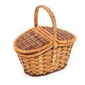 Wicker basket isolated on a white background - PhotoDune Item for Sale