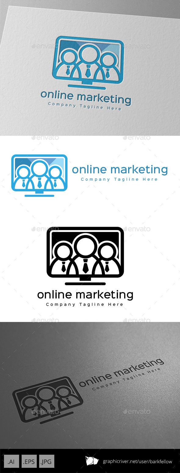 GraphicRiver Online Marketing Monitor Logo Design 11001247