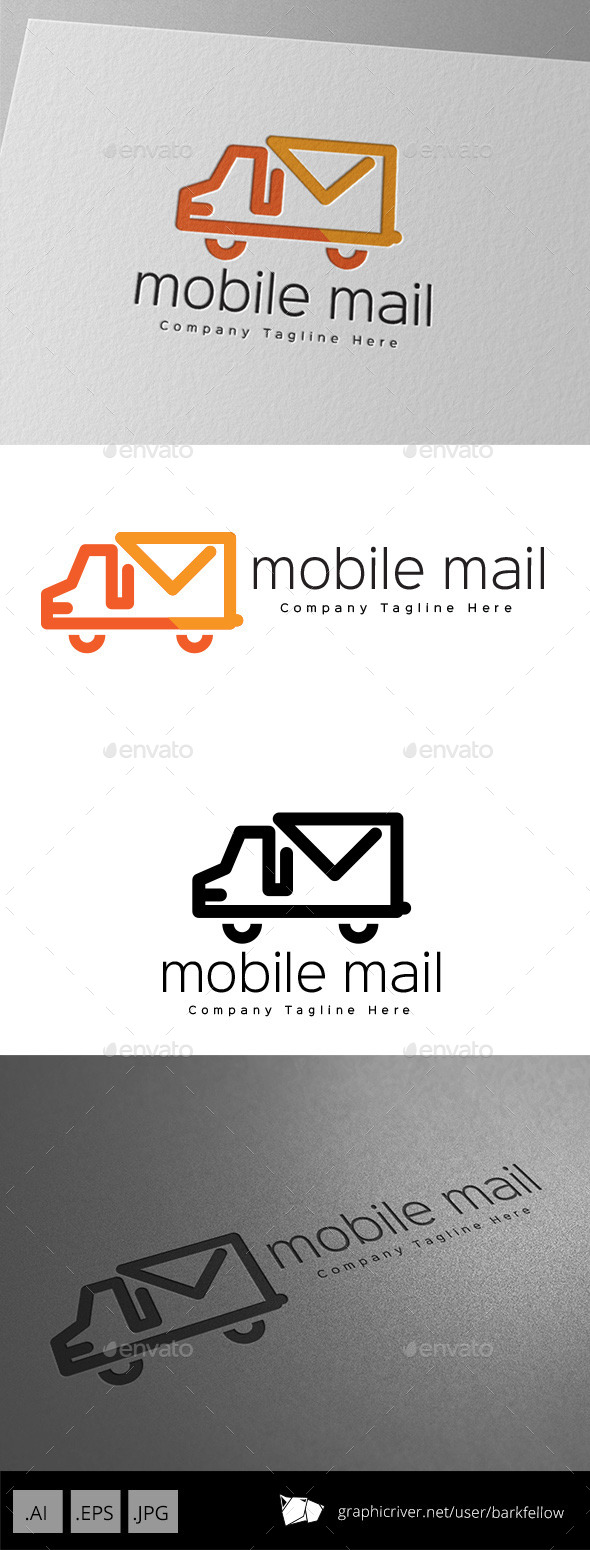 GraphicRiver Mobile Mail Service Logo Design 11001321