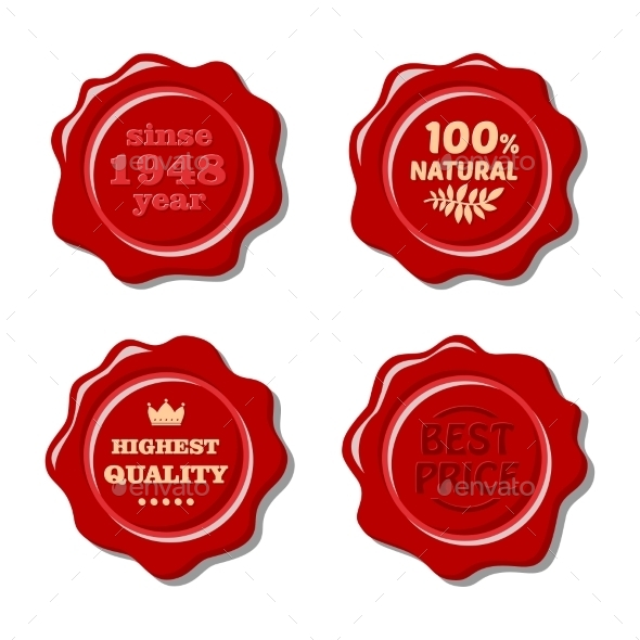 GraphicRiver Wax Stamps 11001498
