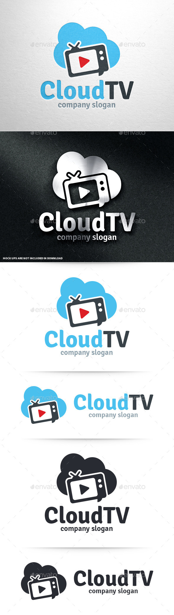 GraphicRiver Cloud TV Logo Template 11001538