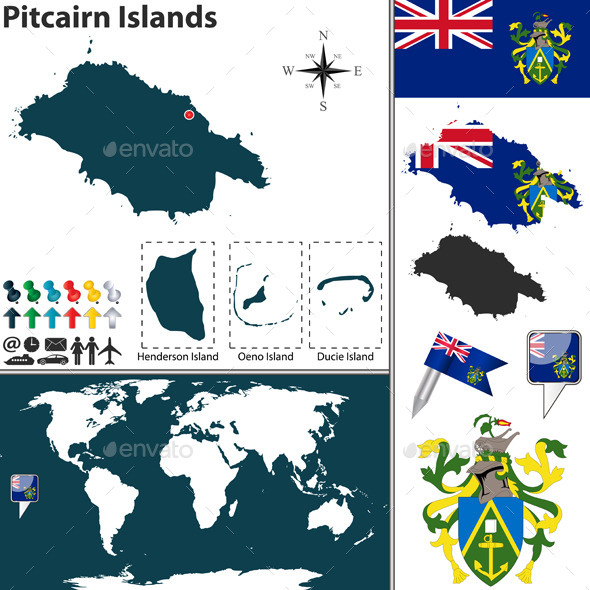 GraphicRiver Map of Pitcairn Islands 11001627