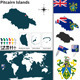 Map of Pitcairn Islands - GraphicRiver Item for Sale