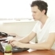Young Man Behind The Laptop - VideoHive Item for Sale