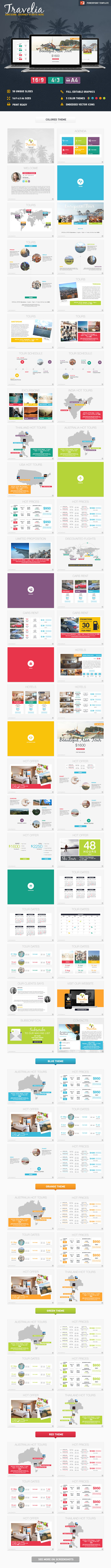 GraphicRiver Travelia PowerPoint Presentation Template 11002059