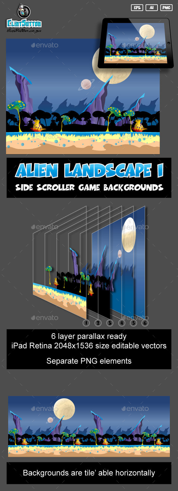 GraphicRiver Alien landscape1 game background 11002096