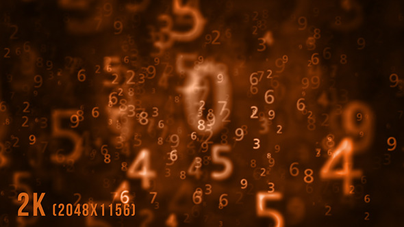 Numbers Orange Background 1