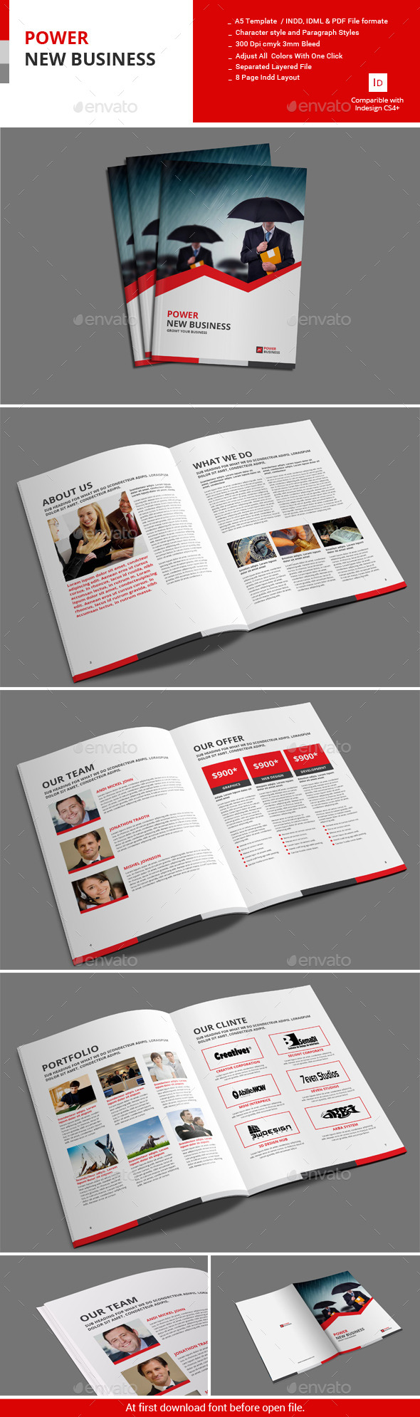 GraphicRiver 8 Pages Power New Business 11002128