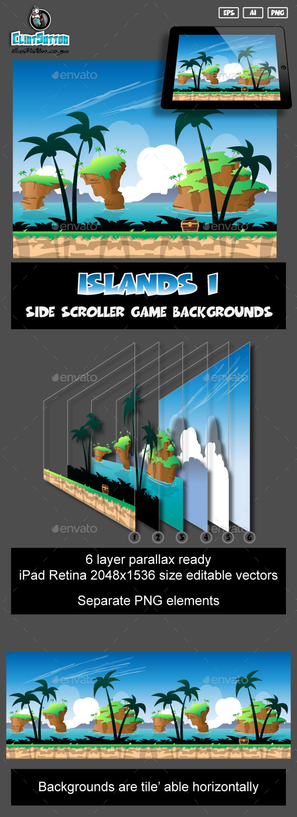 GraphicRiver Islands1 game background 11002212
