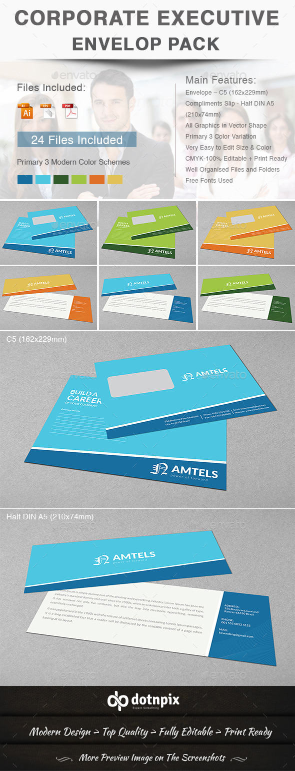 GraphicRiver Corporate Executive Envelop Pack 11002429