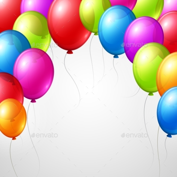 GraphicRiver Festive Balloons 11002567
