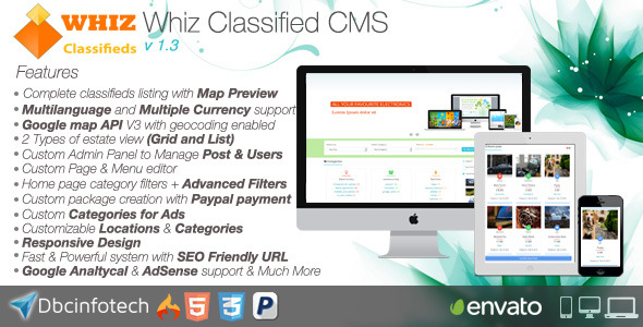 WhizClassified - Classifieds CMS - CodeCanyon Item for Sale