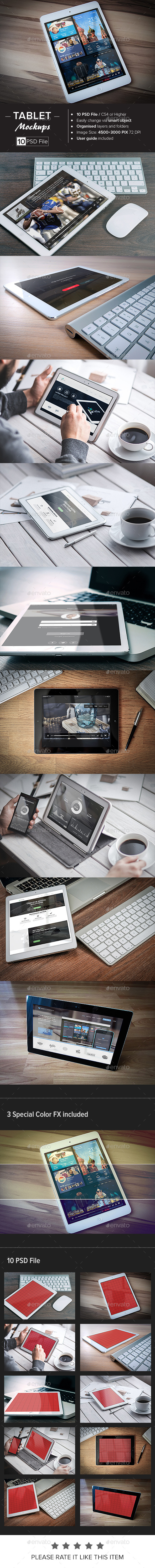 GraphicRiver Tablet Mock-Up 11002940