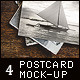 4 Vintage Postcard Mock-up - GraphicRiver Item for Sale