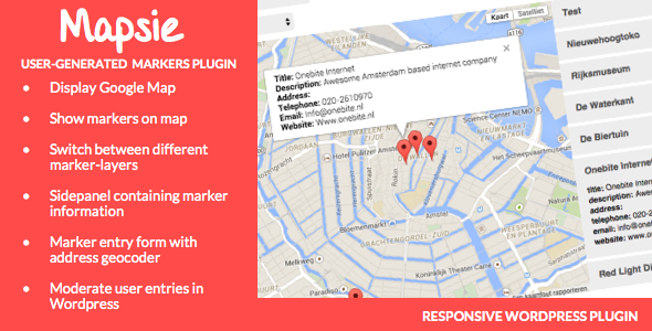 CodeCanyon Mapsie User-generated markers plugin 11002945