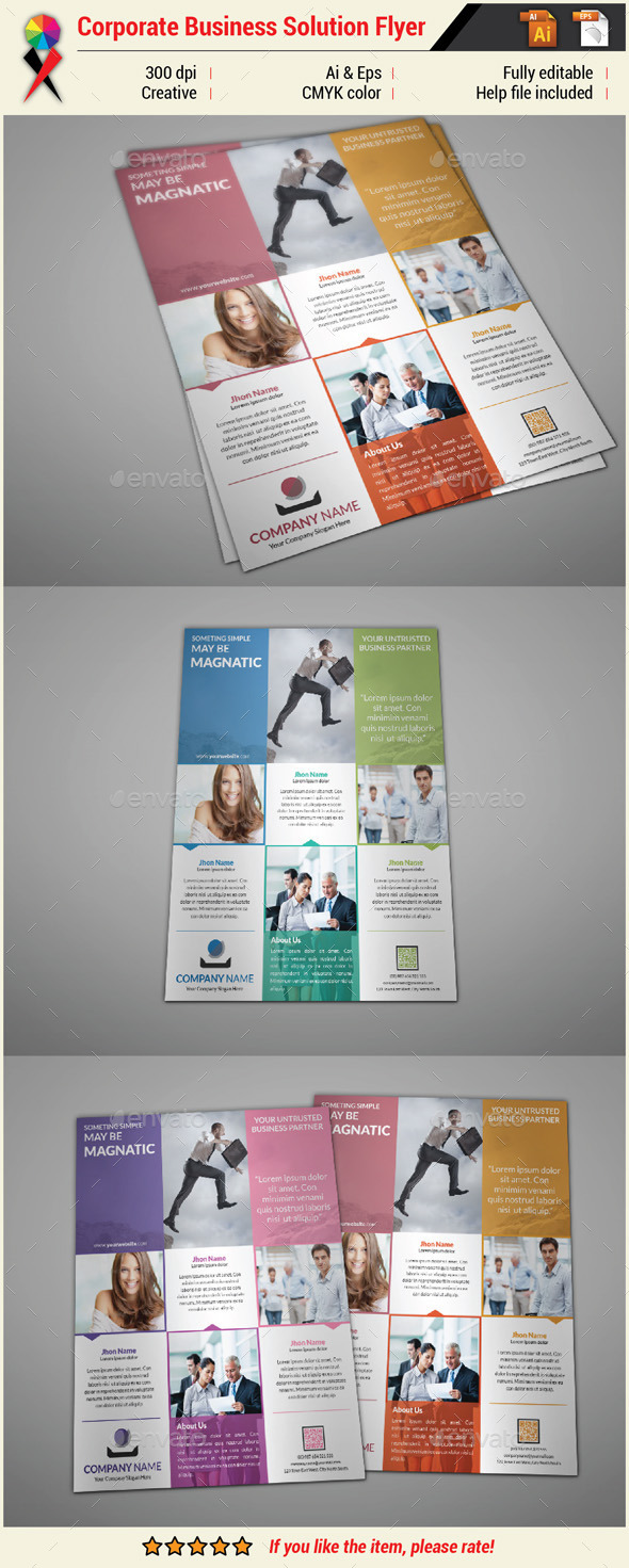 GraphicRiver Professional Creative Corporate Business Flyer 11003135