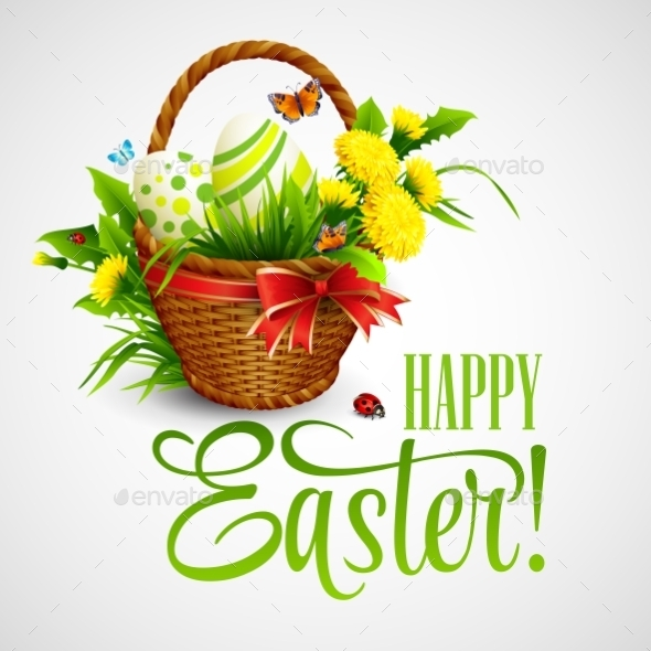 GraphicRiver Easter Card with Basket 11003149