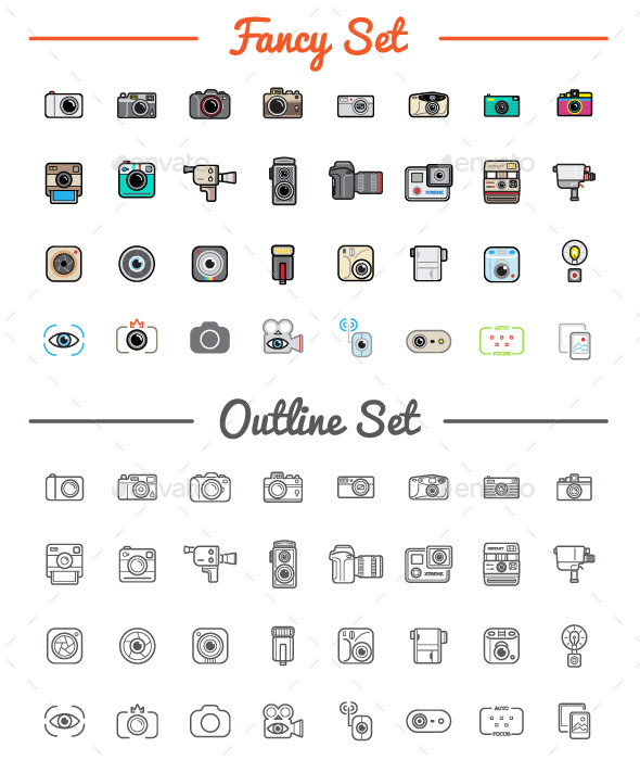 GraphicRiver Great 32&32 Vector Photo Camera Icons Set 11003194