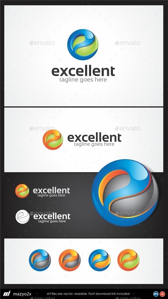GraphicRiver Letter E 3D Excellent Logo 11003259
