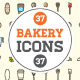 Great 37+37 Vector Bakery/Pastry Icons Set - GraphicRiver Item for Sale