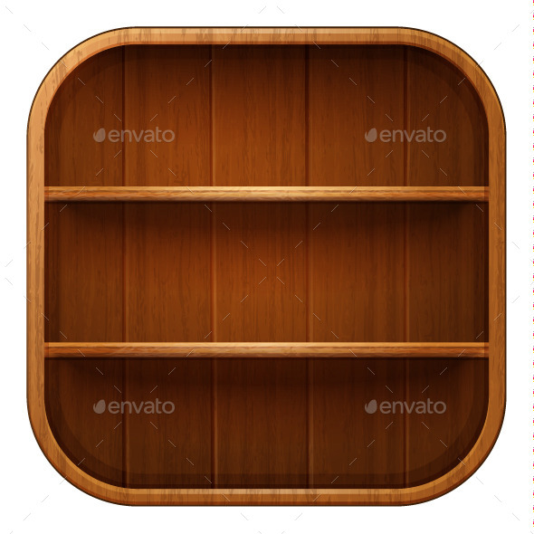 GraphicRiver Blank Wooden Bookshelf 10257730