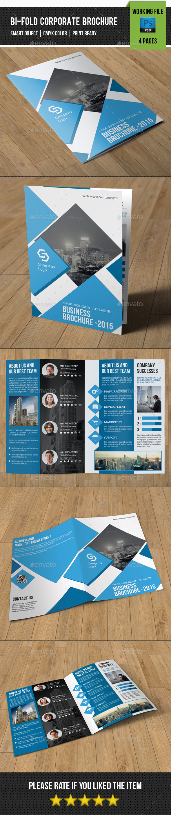 GraphicRiver Corporate Bifold Brochure-V332 11003905